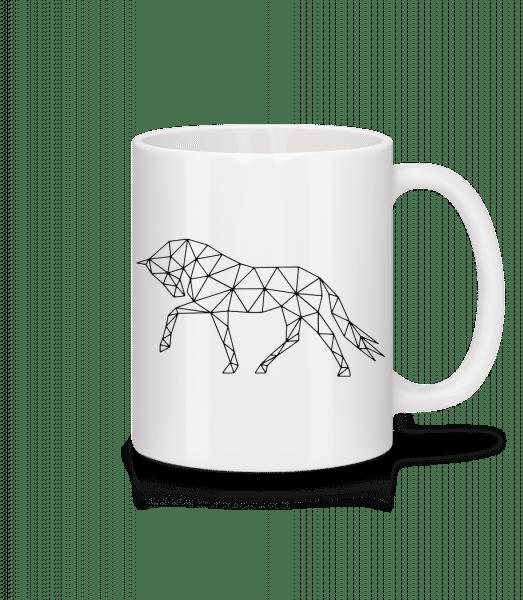 Polygon Cheval - Mug en céramique blanc - Blanc - Devant