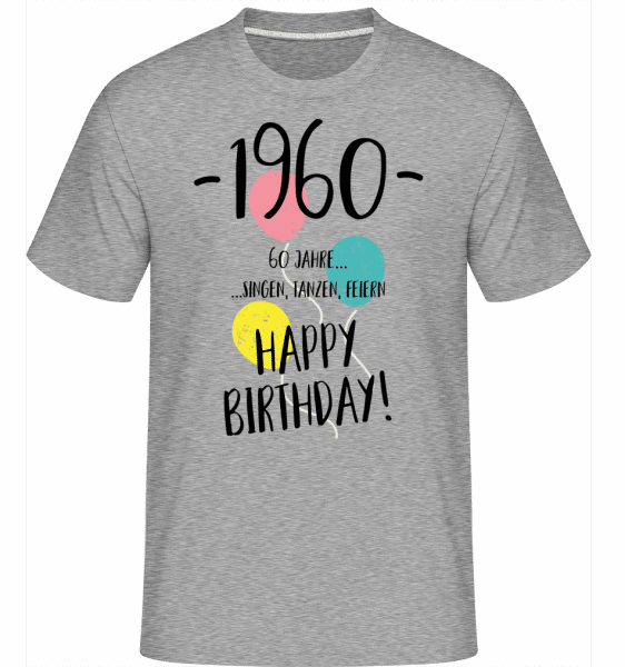 1960 60 years -  Shirtinator Men's T-Shirt - Heather grey - Vorn