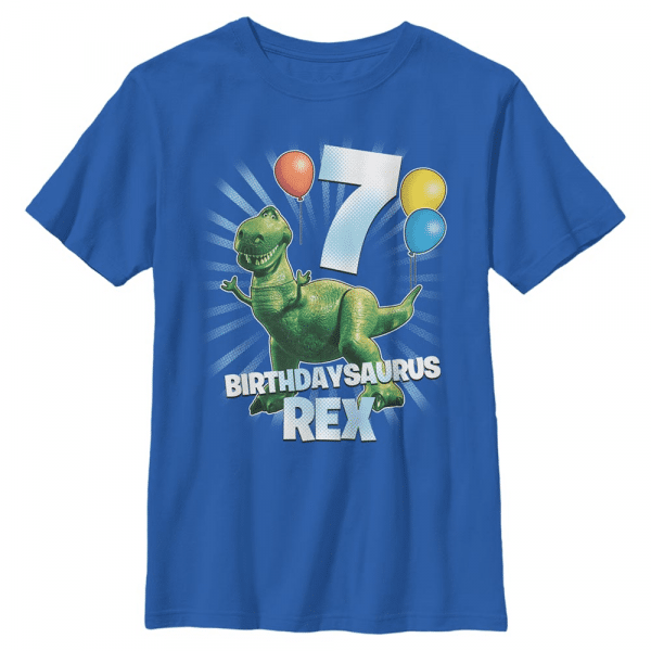 Ballon Rex 7 - Pixar Toy Story 1-3 - Kids T-Shirt - Royal blue - Front