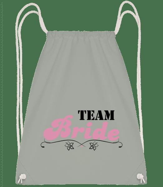 Team Bride - Drawstring Backpack - Anthracite - Vorn