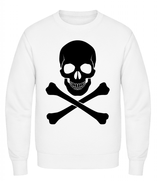 Skull And Bones - Classic Set-In Sweatshirt - White - Vorn