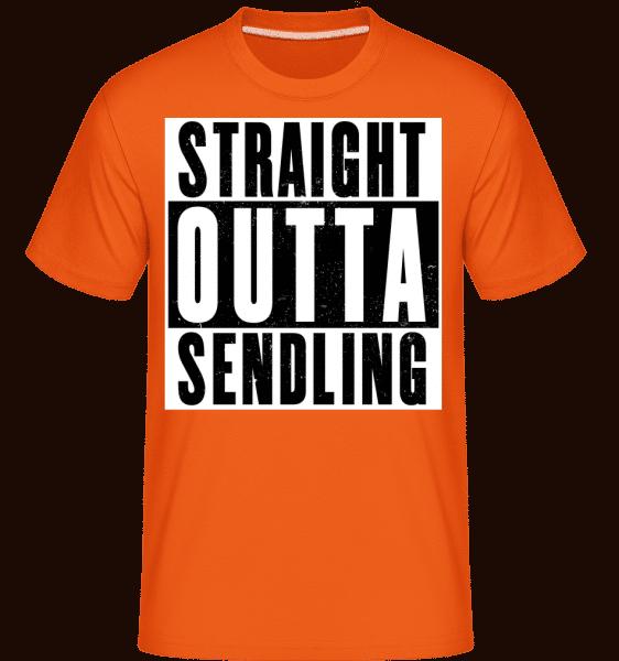 Straight Outta Sendling - Shirtinator Männer T-Shirt - Orange - Vorn