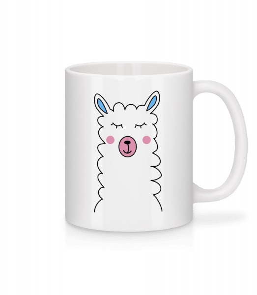 Cute Lama - Mug - White - Vorn