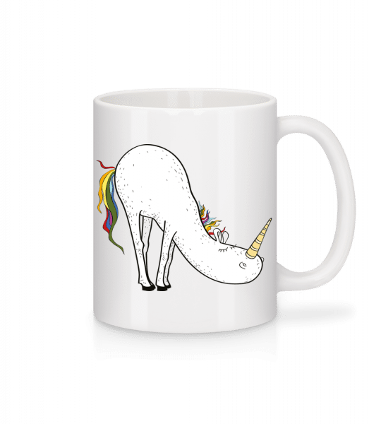 Yoga Unicorn Bücke - Mug - White - Vorn
