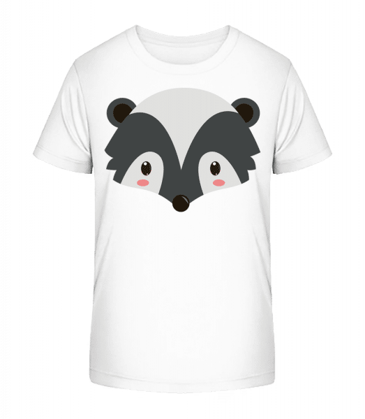 Racoon Comic - Kid's Premium Bio T-Shirt - White - Vorn