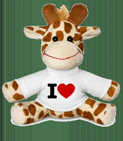 I Love cœur - Girafe - Blanc - Vorn