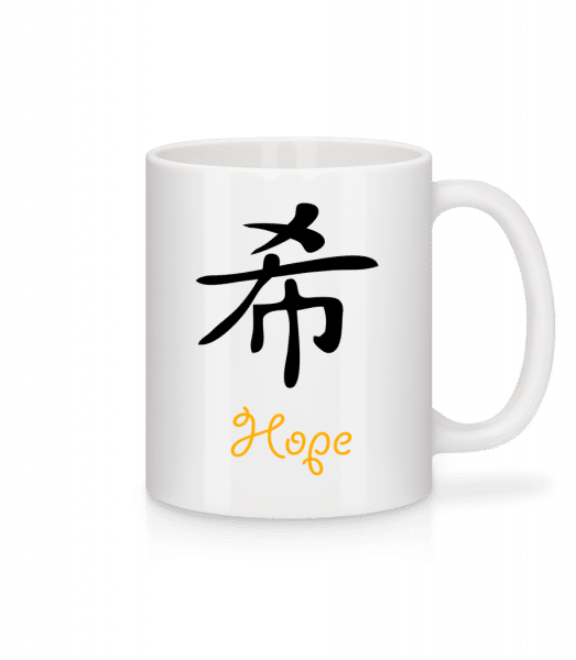 Chinese Sign Hope - Mug - White - Vorn