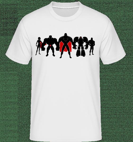 Superman League -  Shirtinator Men's T-Shirt - White - Vorn