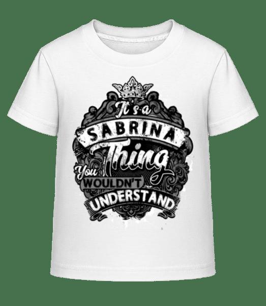It's A Sabrina Thing - Kid's Shirtinator T-Shirt - White - Vorn