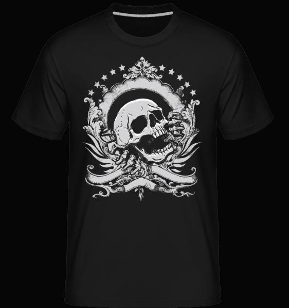 Skull Logo -  Shirtinator tričko pro pány - Černá - Napřed