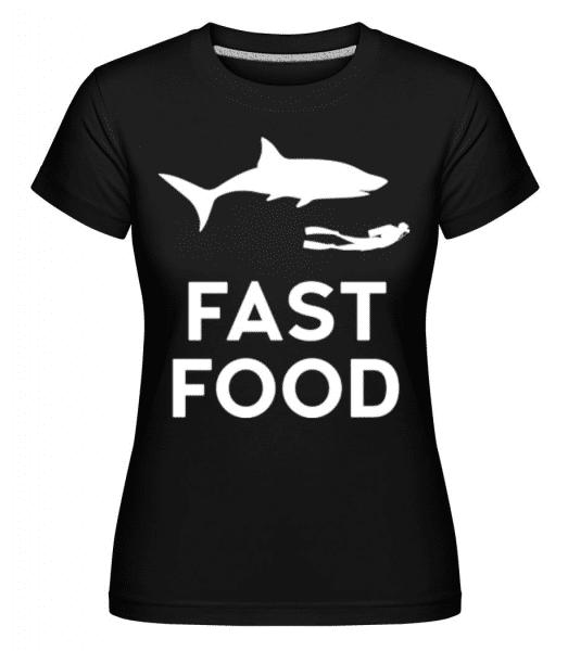 Fast Food Diver -  Shirtinator Women's T-Shirt - Black - Front