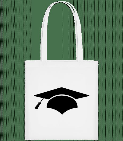 Graduation Cap - Carrier Bag - White - Vorn
