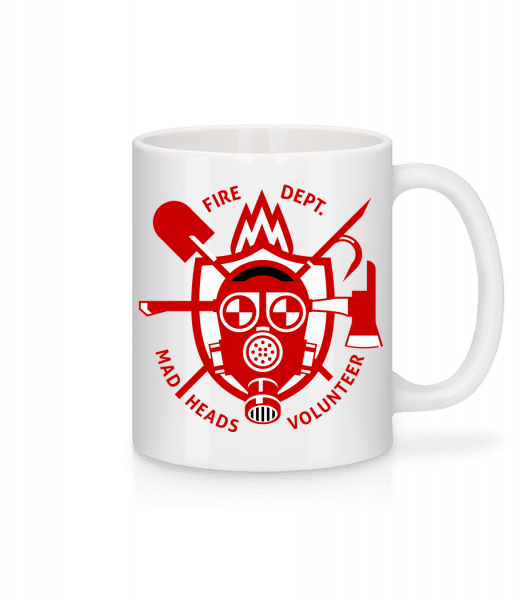 Fire Dept Mad Heads - Mug - White - Front
