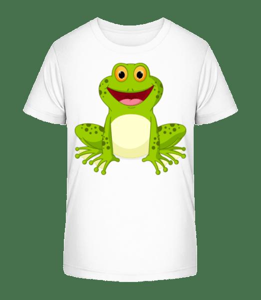 Frog - Kid's Premium Bio T-Shirt - White - Vorn