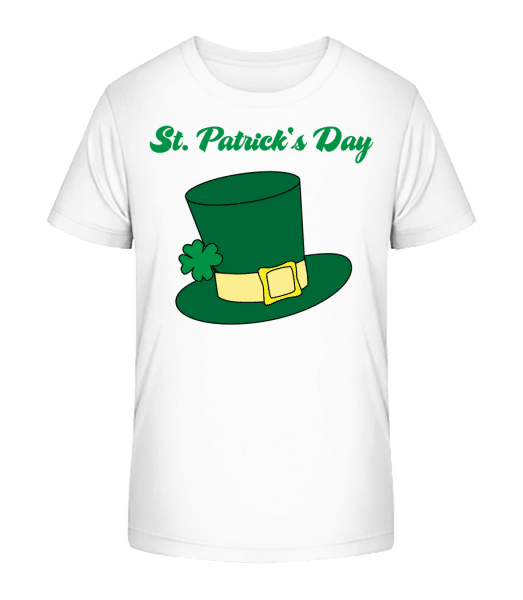 St. Patrick's Day Hat - Kid's Premium Bio T-Shirt - White - Vorn