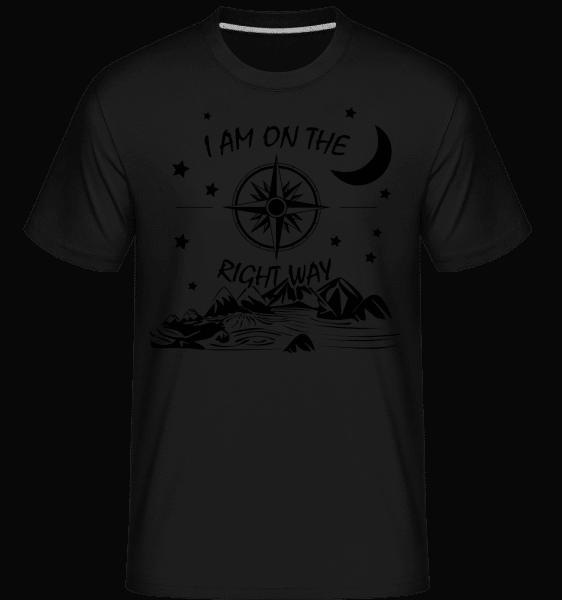 I Am On The Right Way -  Shirtinator Men's T-Shirt - Black - Front