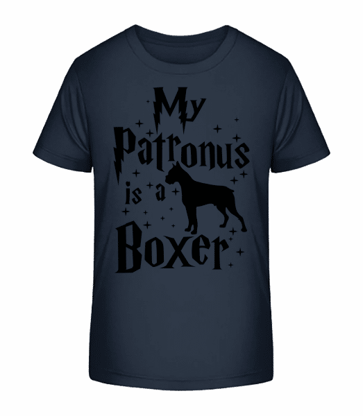 My Patronus Is A Boxer - Kid's Premium Bio T-Shirt - Navy - Vorn