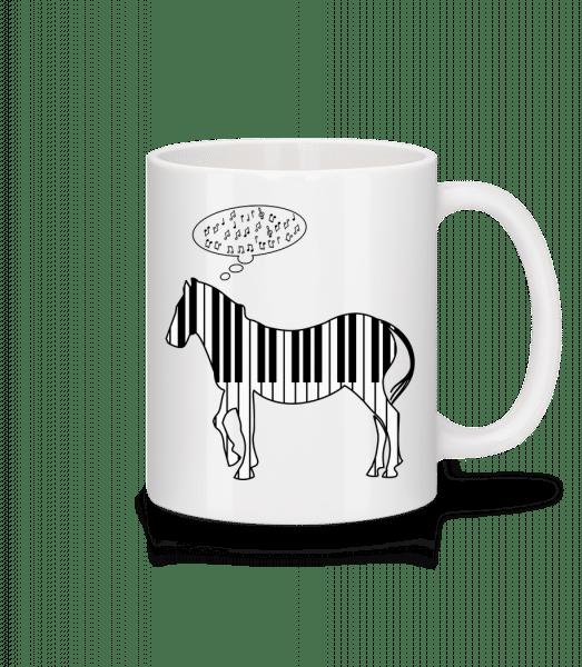 Piano Zebra - Mug - White - Vorn