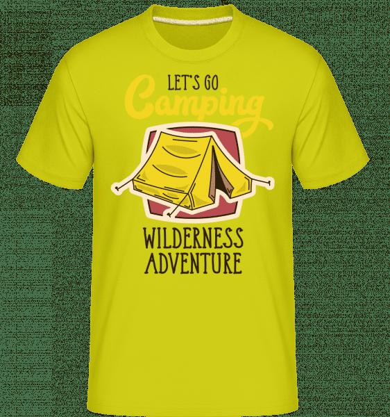 Let's Go Camping -  Shirtinator Men's T-Shirt - Lime - Vorn