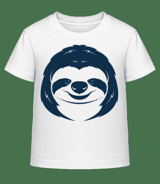 Cute Sloth Face - Kid's Shirtinator T-Shirt - White - Vorn