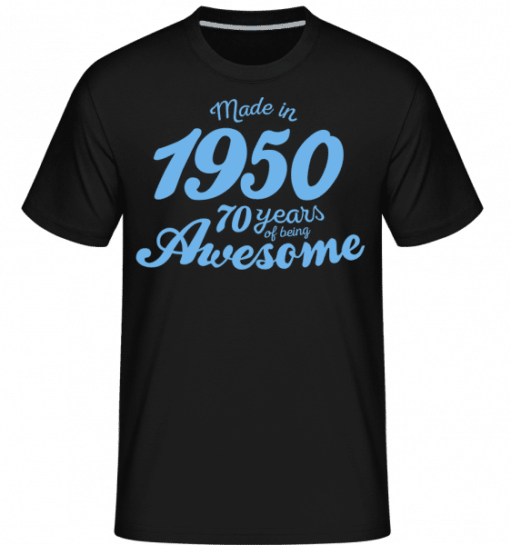 Made In 1950 70 Years -  Shirtinator Men's T-Shirt - Black - Front