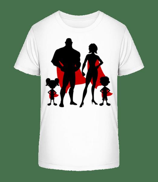 Superhero Family - Kid's Premium Bio T-Shirt - White - Vorn