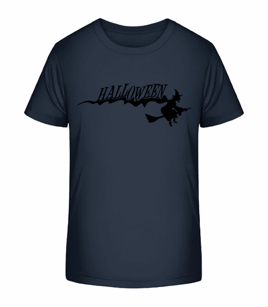 Halloween Witch - Kid's Premium Bio T-Shirt - Navy - Vorn