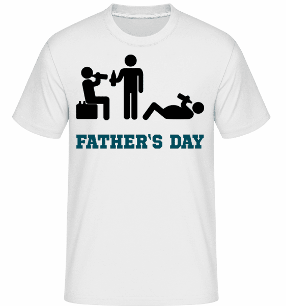 Father's Day -  T-Shirt Shirtinator homme - Blanc - Vorn