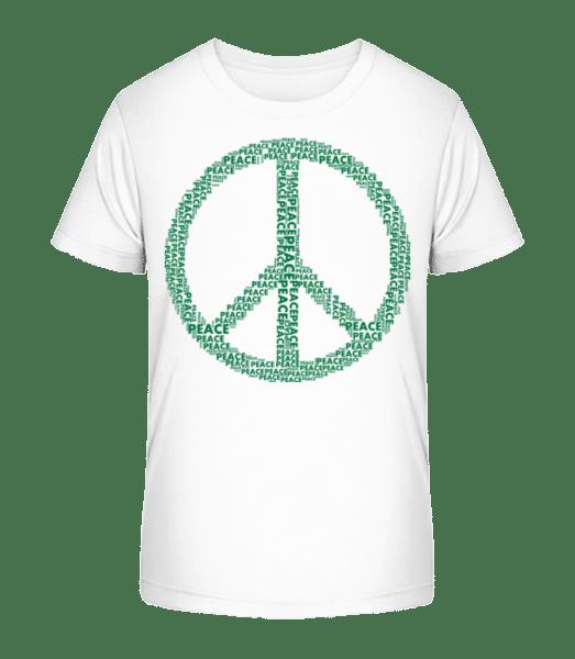 Peace Sign - Kid's Premium Bio T-Shirt - White - Vorn