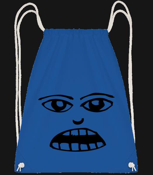 Face Symbol Black - Drawstring Backpack - Royal blue - Vorn