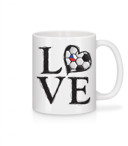 Football Love Czech Republic - Mug - White - Vorn