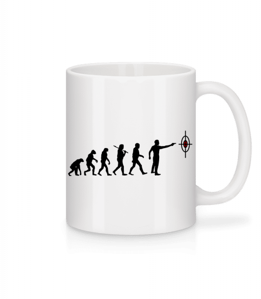 Evolution Of Shooting - Mug - White - Vorn