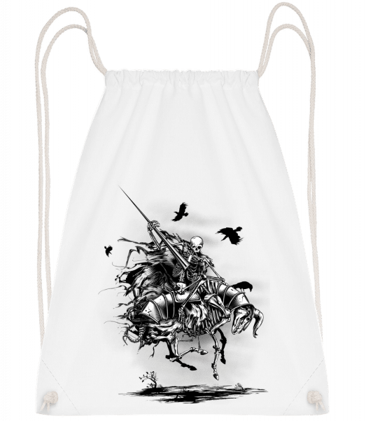 Dead Knight - Drawstring Backpack - White - Vorn