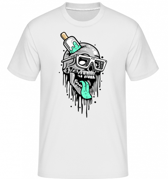 Coloured Skull -  Shirtinator Men's T-Shirt - White - Front
