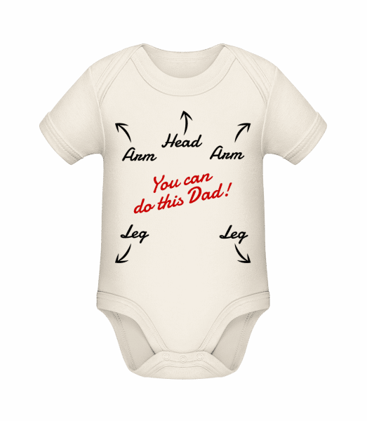 You Can Do This Dad - Baby Bio Strampler - Creme - Vorn