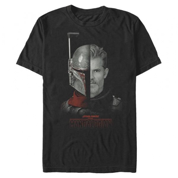 MandoMon Epi Reelz The Marshal - Star Wars Mandalorian - Men's T-Shirt - Black - Front