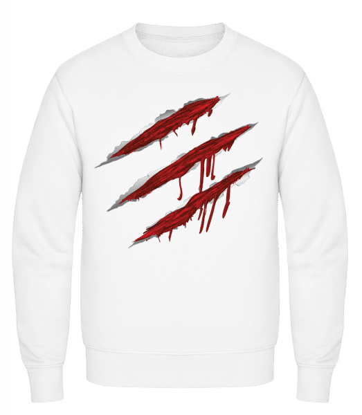 Bloody Scratches - Classic Set-In Sweatshirt - White - Vorn
