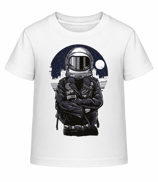 Astronaut Rebel - Kid's Shirtinator T-Shirt - White - Vorn
