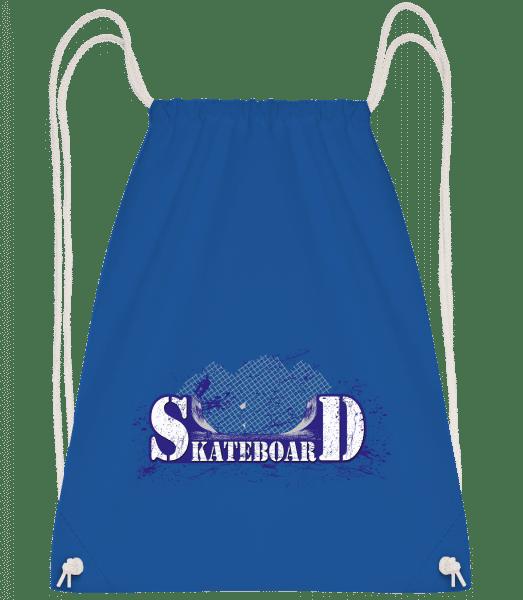 Skateboard Logo - Drawstring Backpack - Royal blue - Vorn