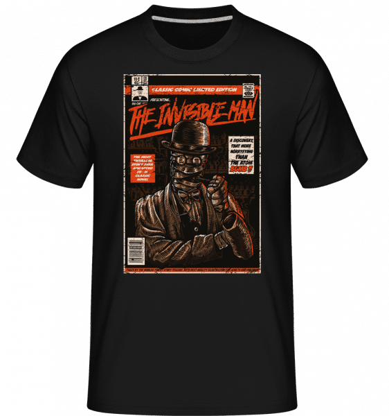 The Invisible Man - Shirtinator Männer T-Shirt - Schwarz - Vorn