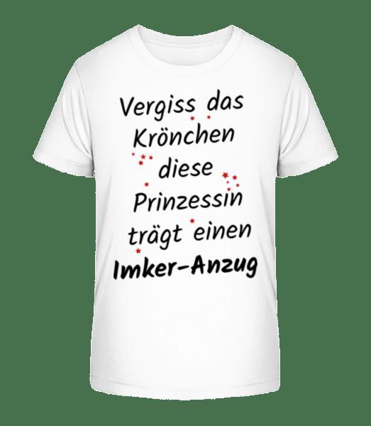 Prinzessin Trägt Imker-Anzug - Kinder Premium Bio T-Shirt - Weiß - Vorn