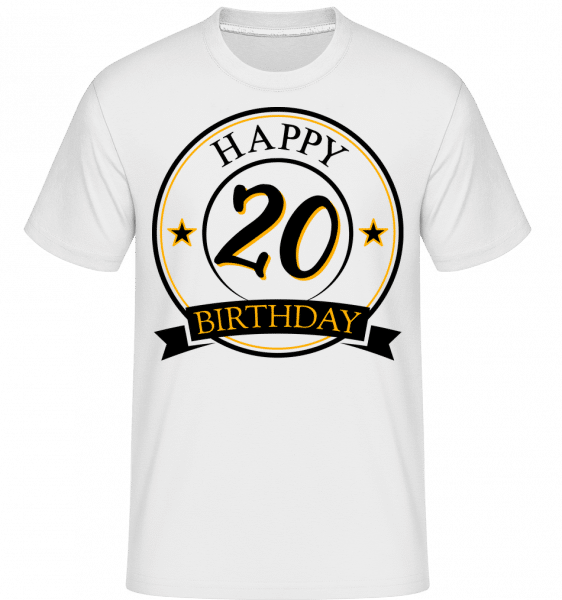 Happy Birthday 20 -  Shirtinator Men's T-Shirt - White - Vorn