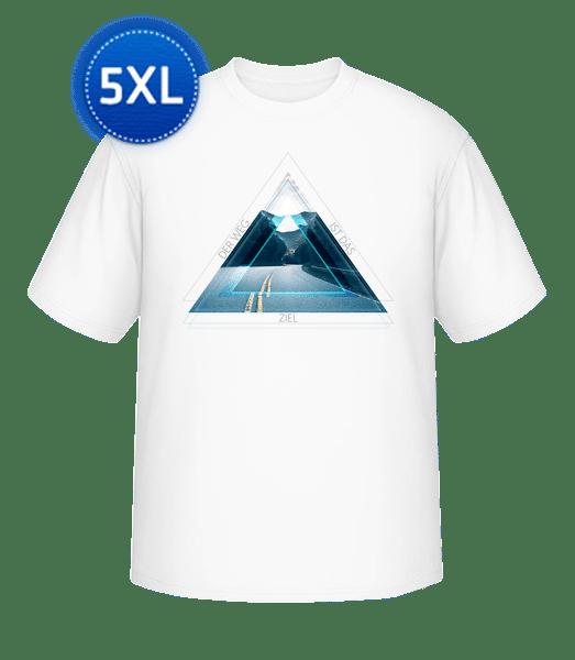 Der Weg Ist Das Ziel - Männer Basic T-Shirt Große Größen - Weiß - Vorn