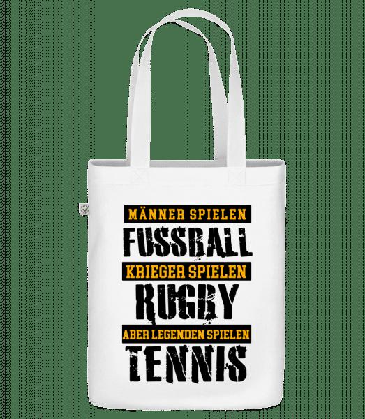 Legenden Spielen Tennis - Bio Tasche - Weiß - Vorn