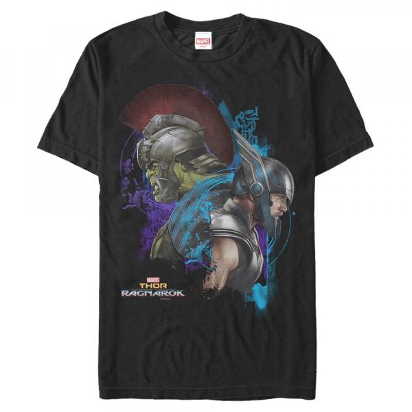 Warriors Hulk & Thor - Marvel Thor Ragnarok - Men's T-Shirt - Black - Front
