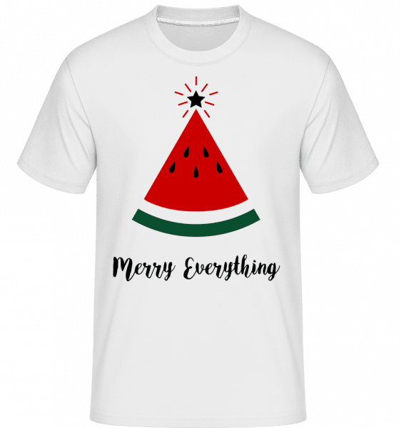 Merry Everything Christmas -  Shirtinator Men's T-Shirt - White - Vorn