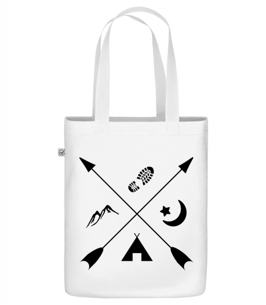 "Hipster Pfeile - Organic ""Earth Positive"" tote bag - White - Front"