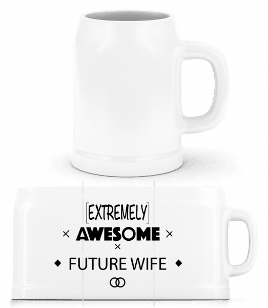 Awesome Future Wife - Beer Mug - White - Vorn