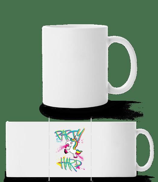 Party Hard Unicorn - Panorama Mug - White - Front