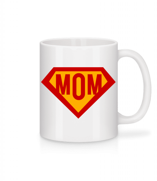 Mom Superhero - Mug - White - Front